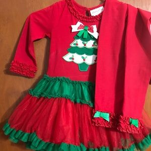 Girls toddler Christmas pant set